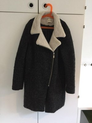 Wool Coat silver-colored-white wool