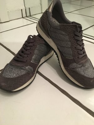 Graue metallic Sneaker Größe 39