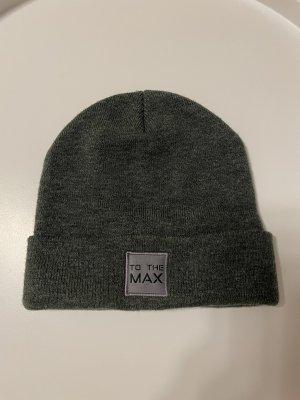 Chapeau en tissu gris anthracite