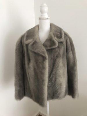 Giacca in pelliccia grigio