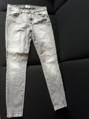 Only Drainpipe Trousers light grey