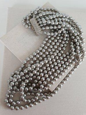 Boutique Ware Collier de perles gris foncé-gris