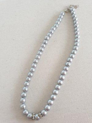 Graue Perlen Kette Halsschmuck Halskette Schmuck