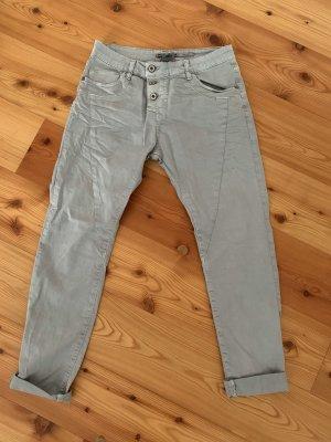 Please Jeans vita bassa grigio chiaro-grigio