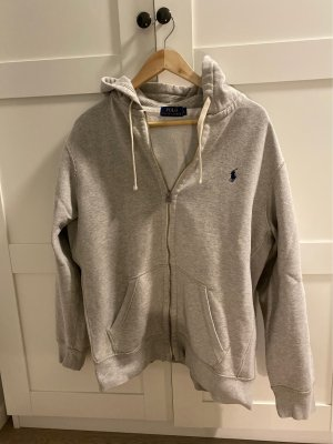 Polo Ralph Lauren Sweat Jacket light grey-dark blue