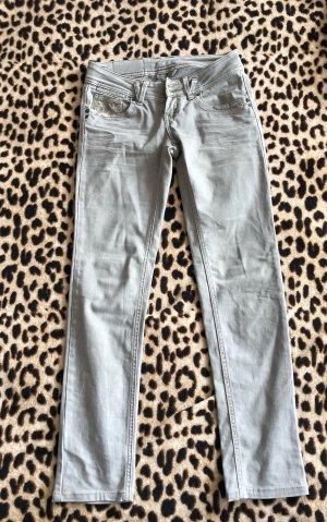 Promod Low-Rise Trousers light grey-cream