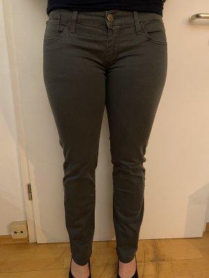Replay Low-Rise Trousers dark grey