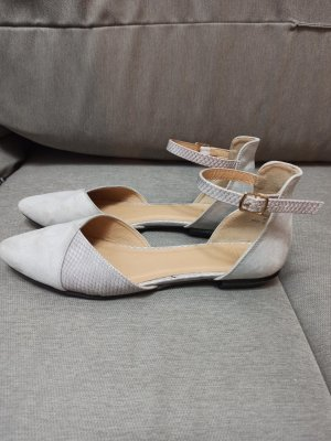 Oasis Strappy Ballerinas light grey