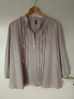 Wrap Ruffled Blouse light grey