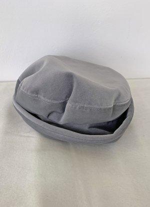 graue Samtmütze für Damen, 57 cm