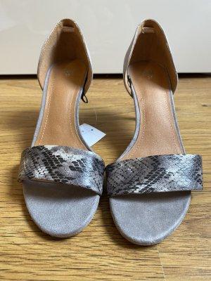 H&M Sandały japonki z rzemykami szary-ciemnoszary