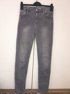 Graue Skinny highwaist Jeans