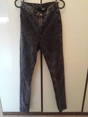 H&M Divided Hoge taille jeans veelkleurig Katoen