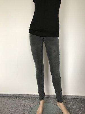 Graue Skinny-Jeans mit Stretch
