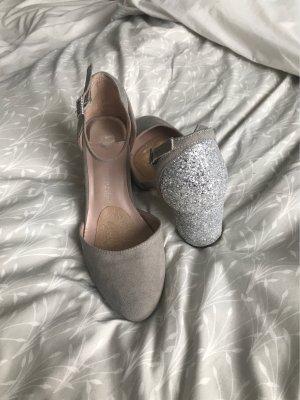 Dorothy Perkins Tacones Mary Jane gris claro-color plata