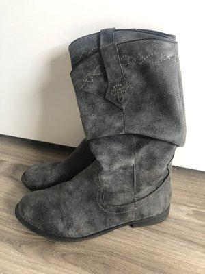 Anna Field Botas estilo vaquero gris