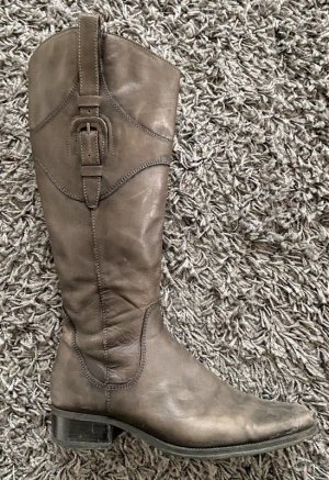 graue Stiefel used- look