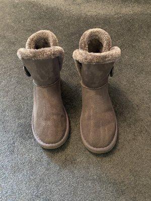 Colloseum Futrzane buty szary