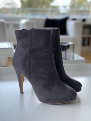 Buffalo Zipper Booties dark grey