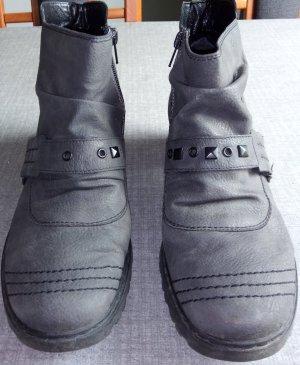 Graue Stiefeletten von Rieker Gr. 40
