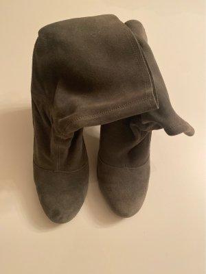 Stefanel Wciągane buty za kostkę szary