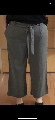 graue Stoffhose Culotte Zara
