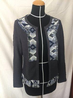 graue Strickjacke Cardigan mit Fransen Vero Moda