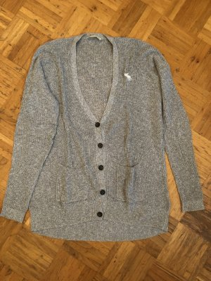 Graue Strickjacke von Abercrombie & Fitch