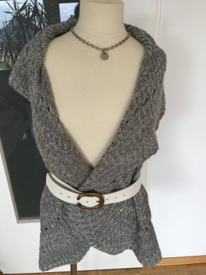 APT.9 Short Sleeve Knitted Jacket light grey-grey