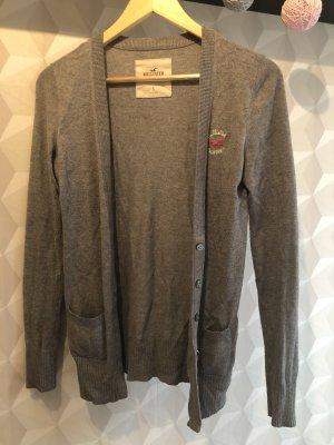 Hollister Cardigan gris coton