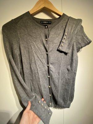Graue Strickjacke von Zara