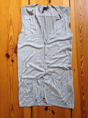 H&M Gilet tricoté gris viscose