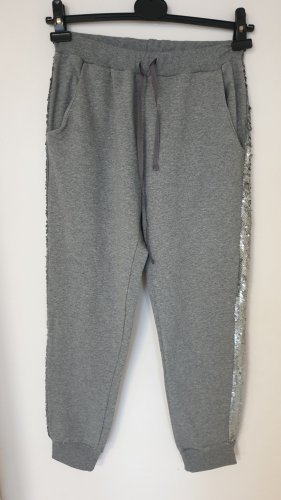 Sweat Pants grey-silver-colored cotton