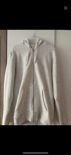 Chaqueta con capucha gris claro