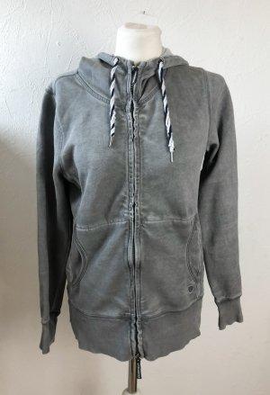 Basefield Veste à capuche gris coton