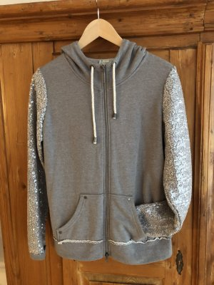 1-One Veste à capuche argenté-gris clair