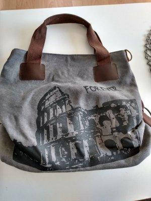 Canvas Bag grey-dark grey