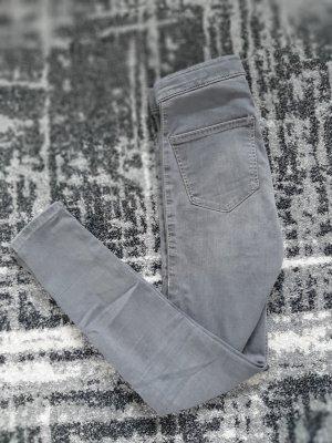 Graue Topshop  Highwaist Joni Jeans W25/L32