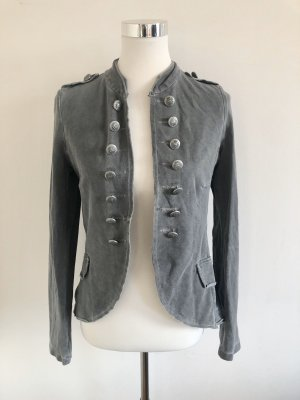 Military Jacket silver-colored-grey