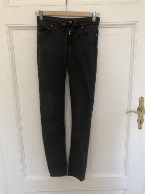 Graue vintage Lee Jeans Skinnyjeans XS