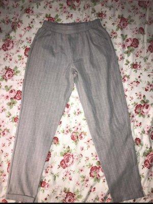 Pull & Bear Pantalon en jersey gris-blanc