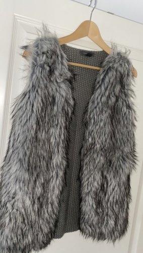 Primark Short Sleeve Knitted Jacket dark grey-grey