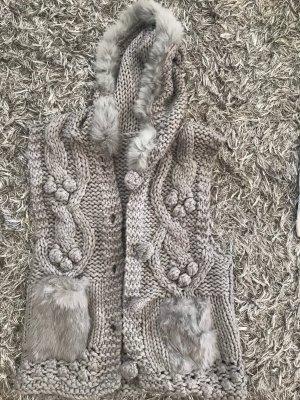 Gilet à capuche gris clair-gris