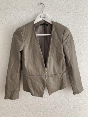 Zara Basic Leather Blazer grey
