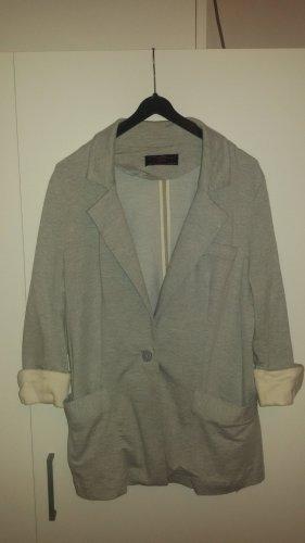 Grauer Blazer aus Sweatshirtstoff