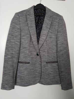 Zara Basic Jersey blazer grijs