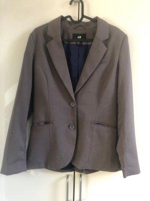 H&M Blazer de esmoquin gris