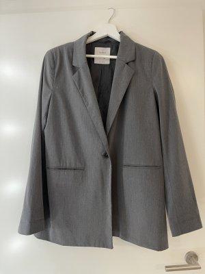 Bershka Lange blazer grijs