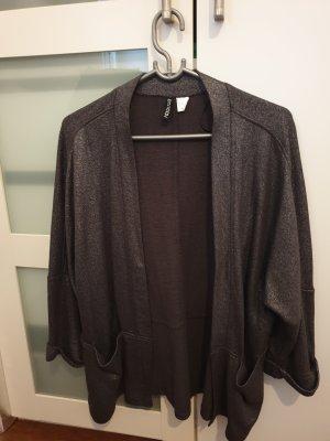 H&M Blazer in maglia argento