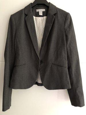 H&M Blazer sweat gris-gris foncé